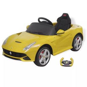 Ferrafi F12 vezethető elektromos kisautó távirányítóval, sárga