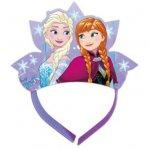 Jégvarázs fejdísz korona - Anna és Elza, 4db