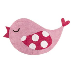 Little Birds madárkás gyerek szőnyeg, rózsaszín