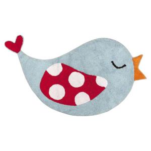 Little Birds madárkás gyerek szőnyeg, kék