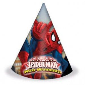 Party csákó gyerekeknek 6db - Pókember / Spiderman