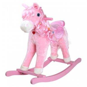 Pinky rózsaszín plüss hintaló kislányoknak