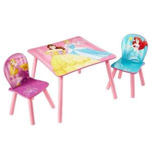 Princess Disney hercegnők gyerekasztal székek