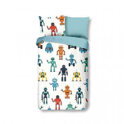 Robotos gyerek ágynemű fiúknak, pamut