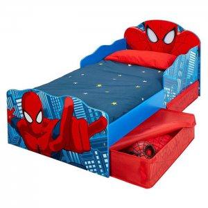 Spiderman pókemberes gyerekágy tárolófiókkal