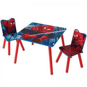 Spiderman pókemberes gyerekasztal 2 székkel