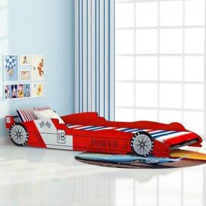 Versenyautós gyerekágy 90 x 200 cm, piros