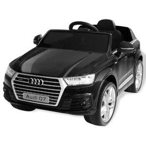 Vezethető elektromos kisautó távirányítóval – Audi Q7, fekete