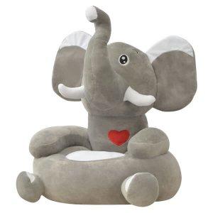 Elefántos plüss gyerekszék