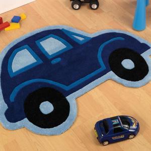 Car autós gyerekszőnyeg 80x100 cm, kék
