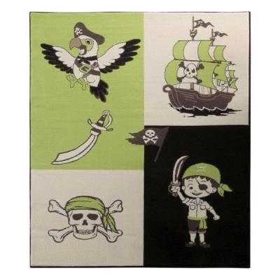 Pirates Green kalózos gyerekszőnyeg 140x200 cm, zöld
