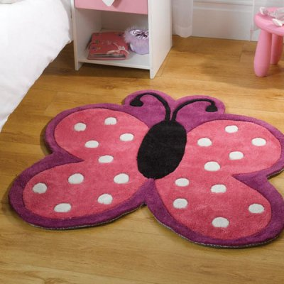 Polka Butterfly Pillangós gyerekszőnyeg 90x90 cm