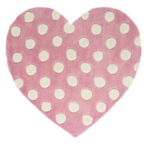 Polka Heart szívecskés gyerekszőnyeg 90x90 cm