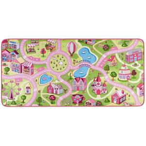 Sweet Town játszószőnyeg kislányoknak,160x240 cm, rózsaszín