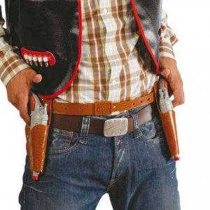 Cowboy derékszíj pisztolyokkal