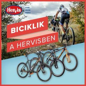 Gyerek bicikli és kerékpár a Hervisben