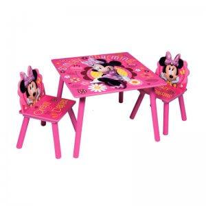Minnie gyerekasztal 2 székkel